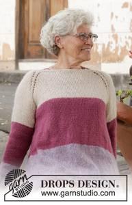 Bilde av Lavender Rose Sweater by DROPS Design
