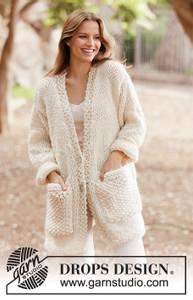 Bilde av White Comfort Jacket by DROPS Design