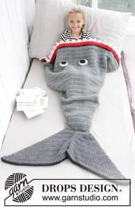 Bilde av Shark Attack Blanket by DROPS Design
