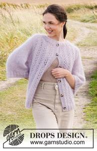 Bilde av Lost in Lavender Cardigan by DROPS Design