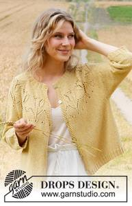Bilde av Yellow Tulip Jacket by DROPS Design